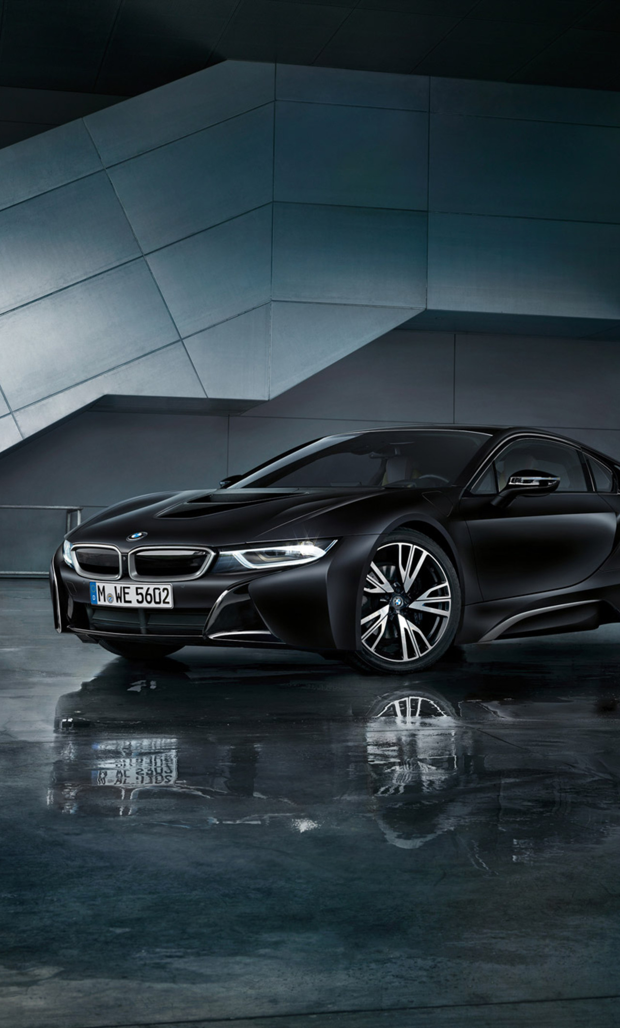 1280x2120 Bmw I8 Black 2018 Iphone 6 Hd 4k Wallpapers Images