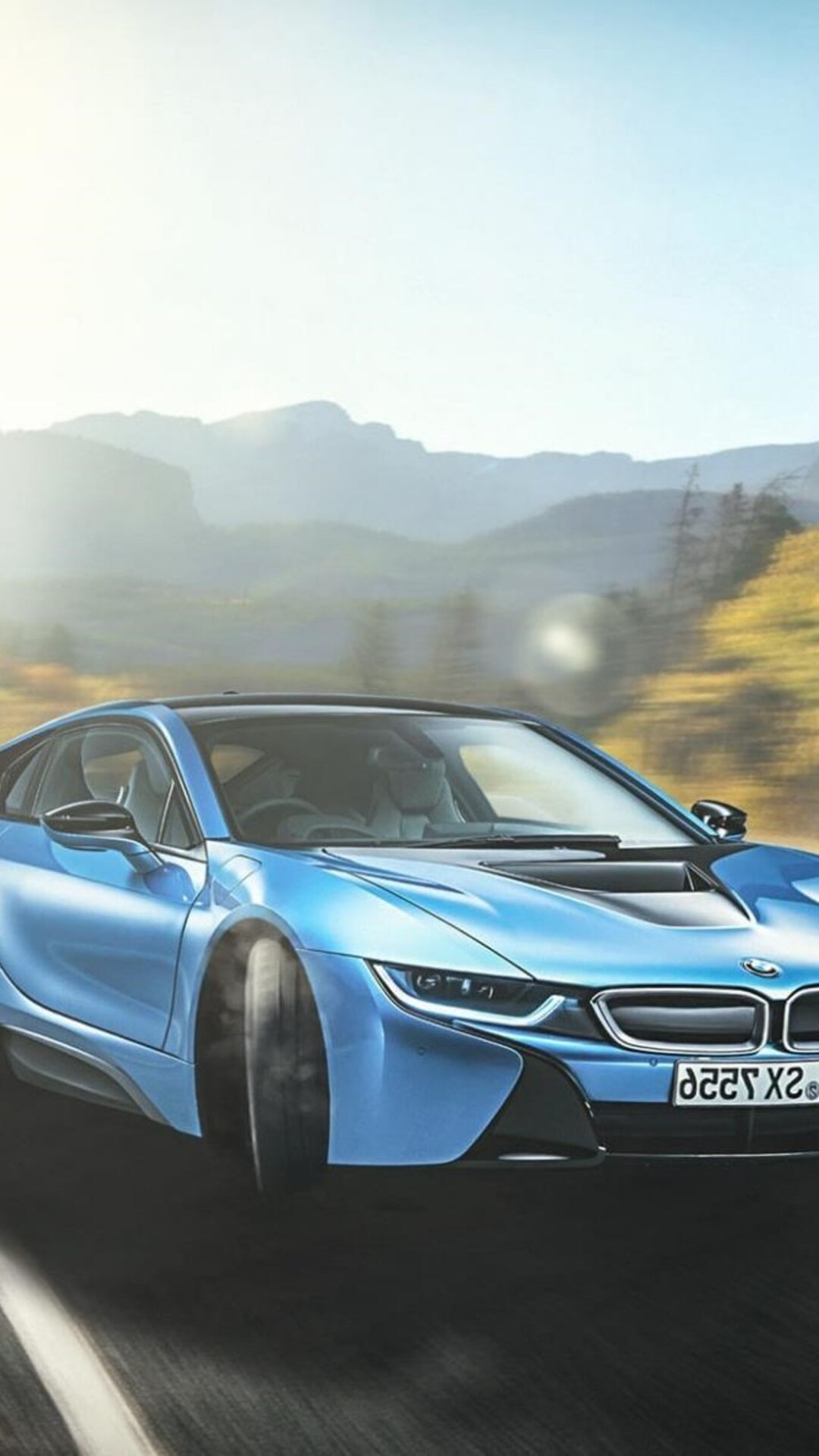 1080x1920 Bmw I8 Blue Iphone 7 6s 6 Plus Pixel Xl One Plus 3 3t 5