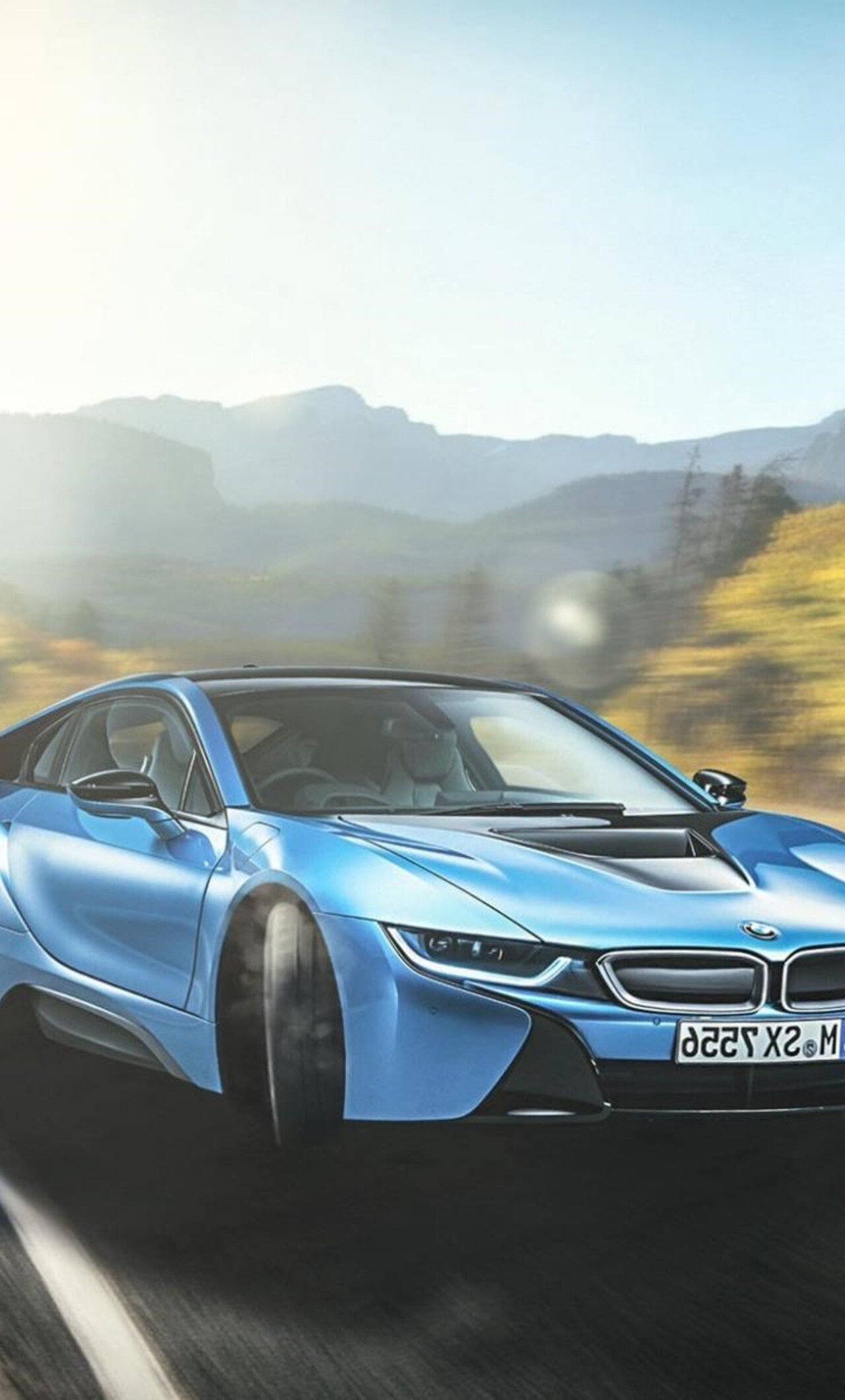 1280x2120 Bmw I8 Blue IPhone 6 HD 4k Wallpapers Images