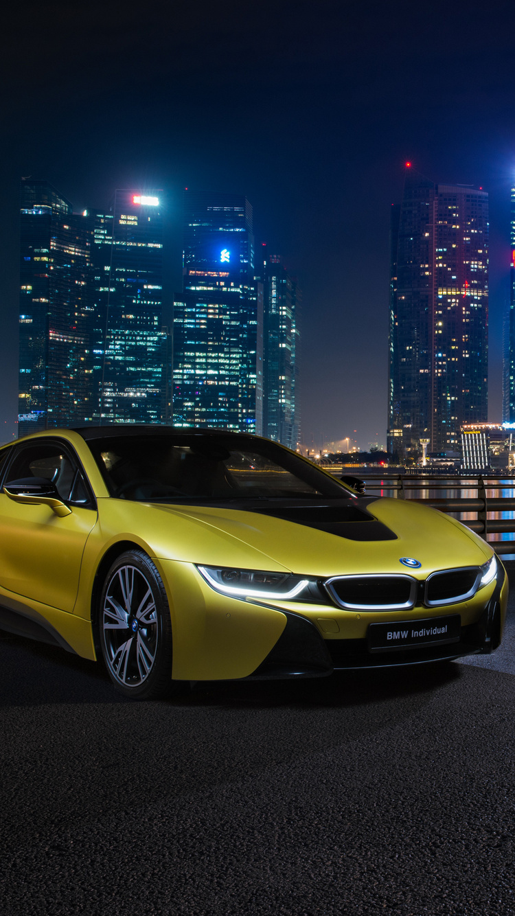 750x1334 Bmw I8 Frozen Yellow Edition Iphone 6 Iphone 6s