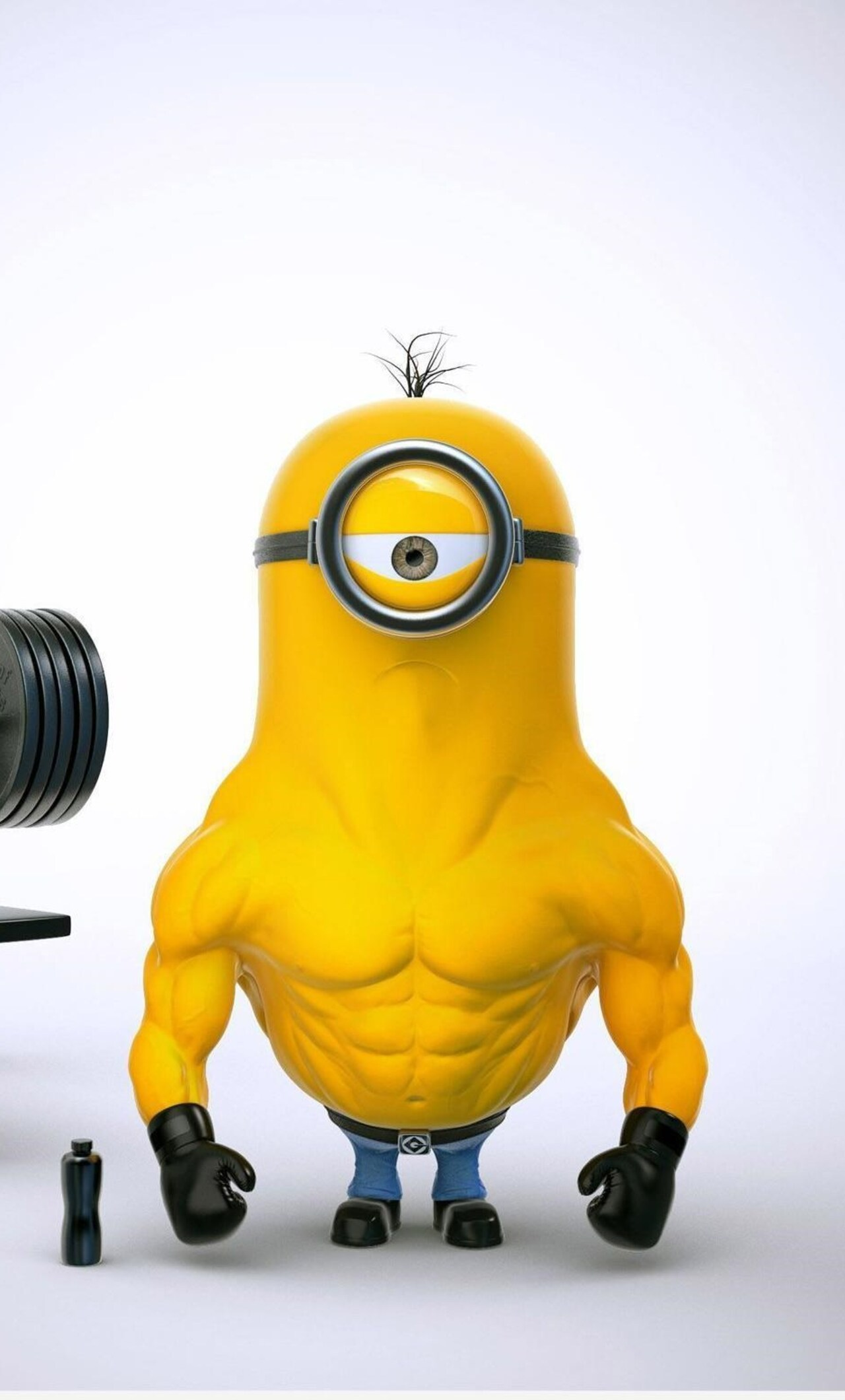 1280x2120 bodybuilder minion iphone 6+ hd 4k wallpapers, images