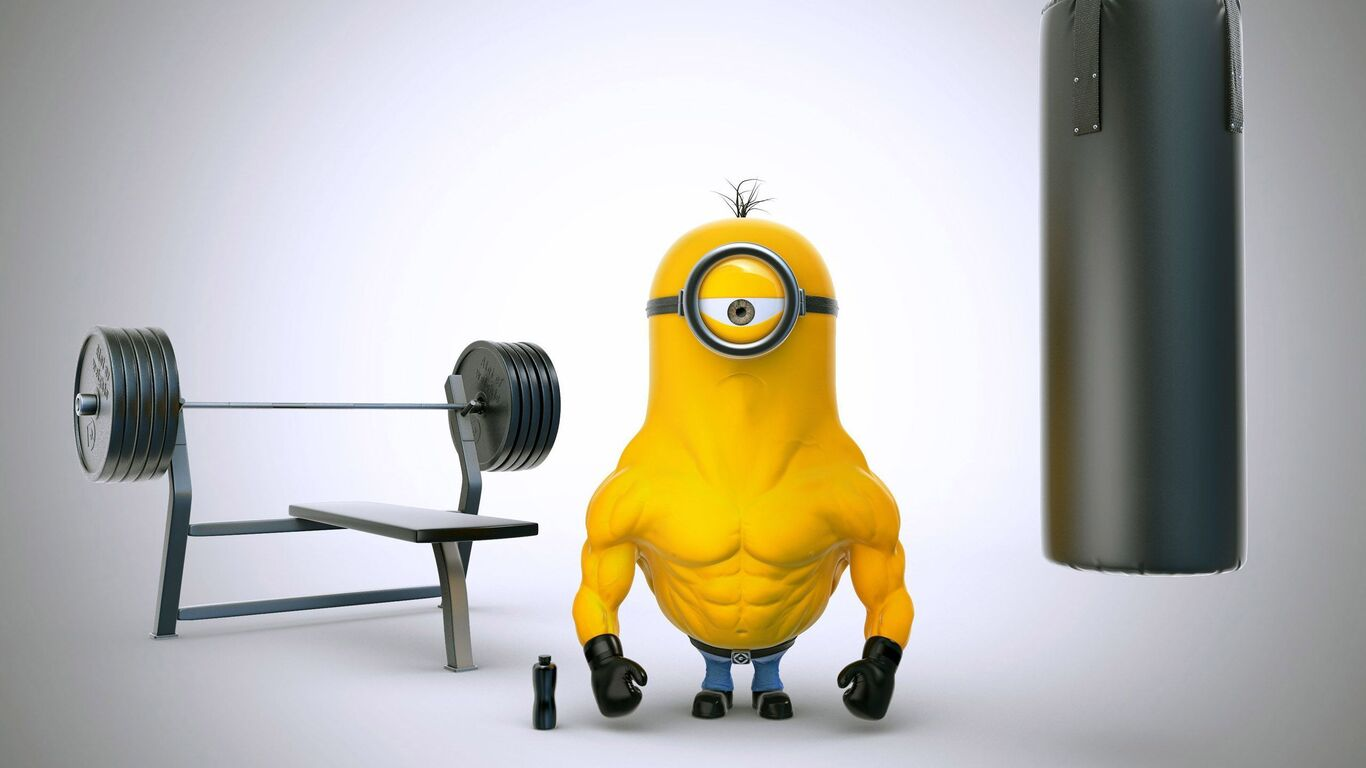 1366x768 Bodybuilder Minion 1366x768 Resolution Hd 4k Wallpapers