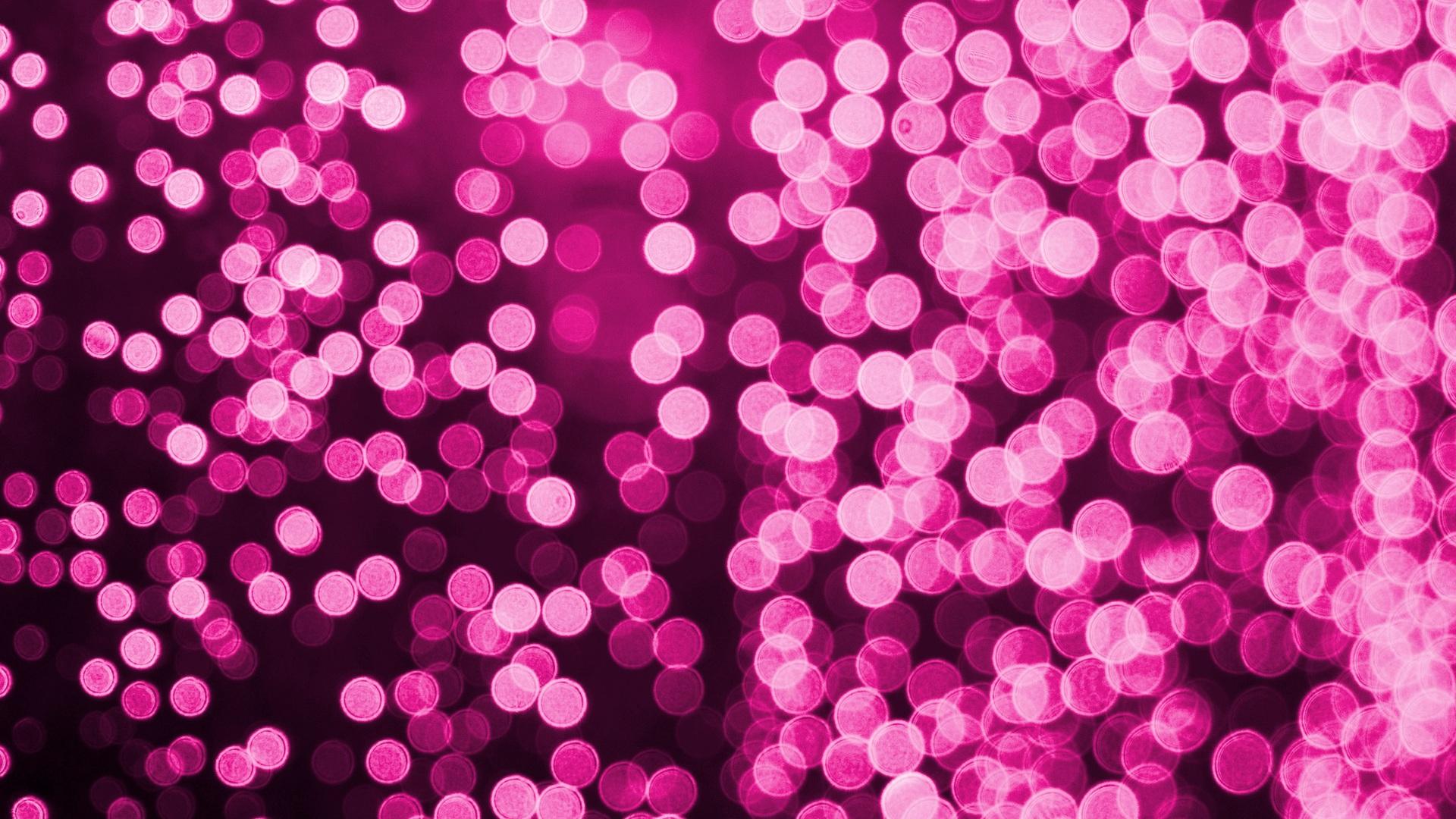 1920x1080 Bokeh Effect Pink Lights Celebrations Laptop Full Hd 1080p