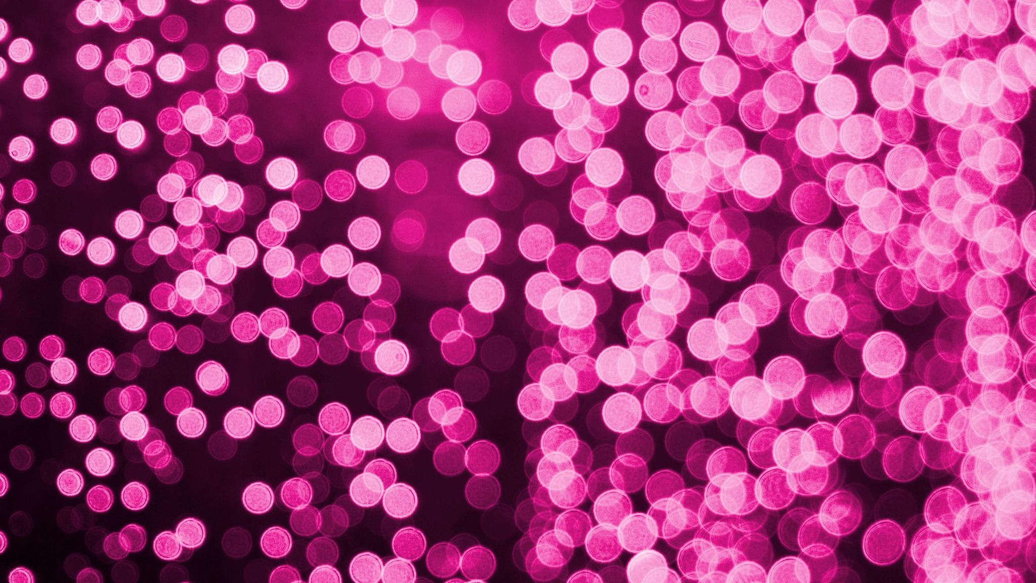 2048x1152 bokeh effect pink lights celebrations 2048x1152 - Pink wallpaper 4k ...