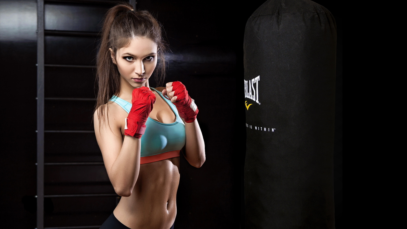 China sexy beautiful girl boxing photo preview