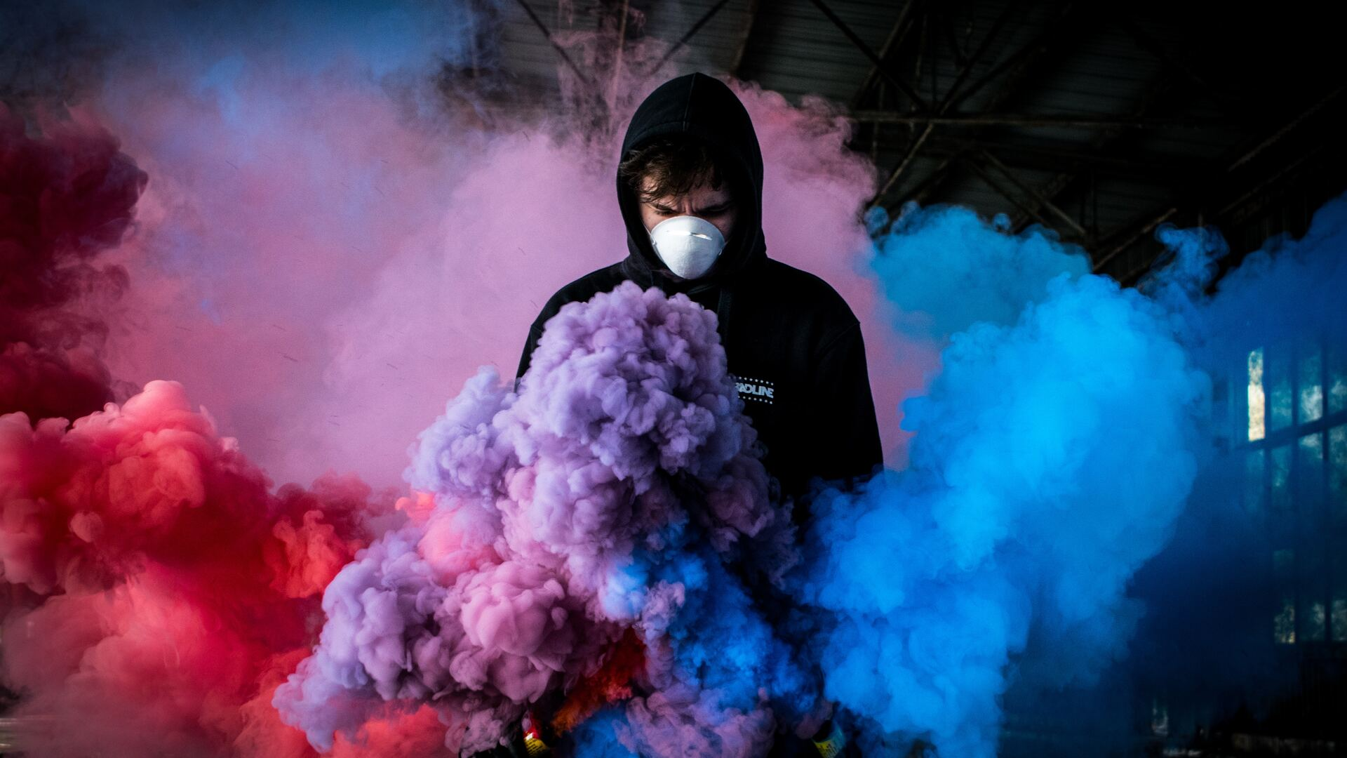 1920x1080 Boy With Smoke Bomb Colorful 5k Laptop Full Hd 1080p Hd 4k Wallpapers Images Backgrounds Photos And Pictures