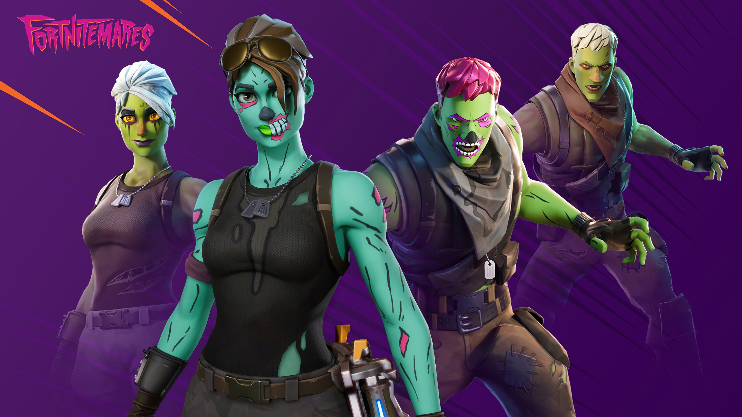 2560x1440 Brainiac And Ghoul Trooper Fortnite 4k 1440p Resolution Hd 4k Wallpapers Images Backgrounds Photos And Pictures