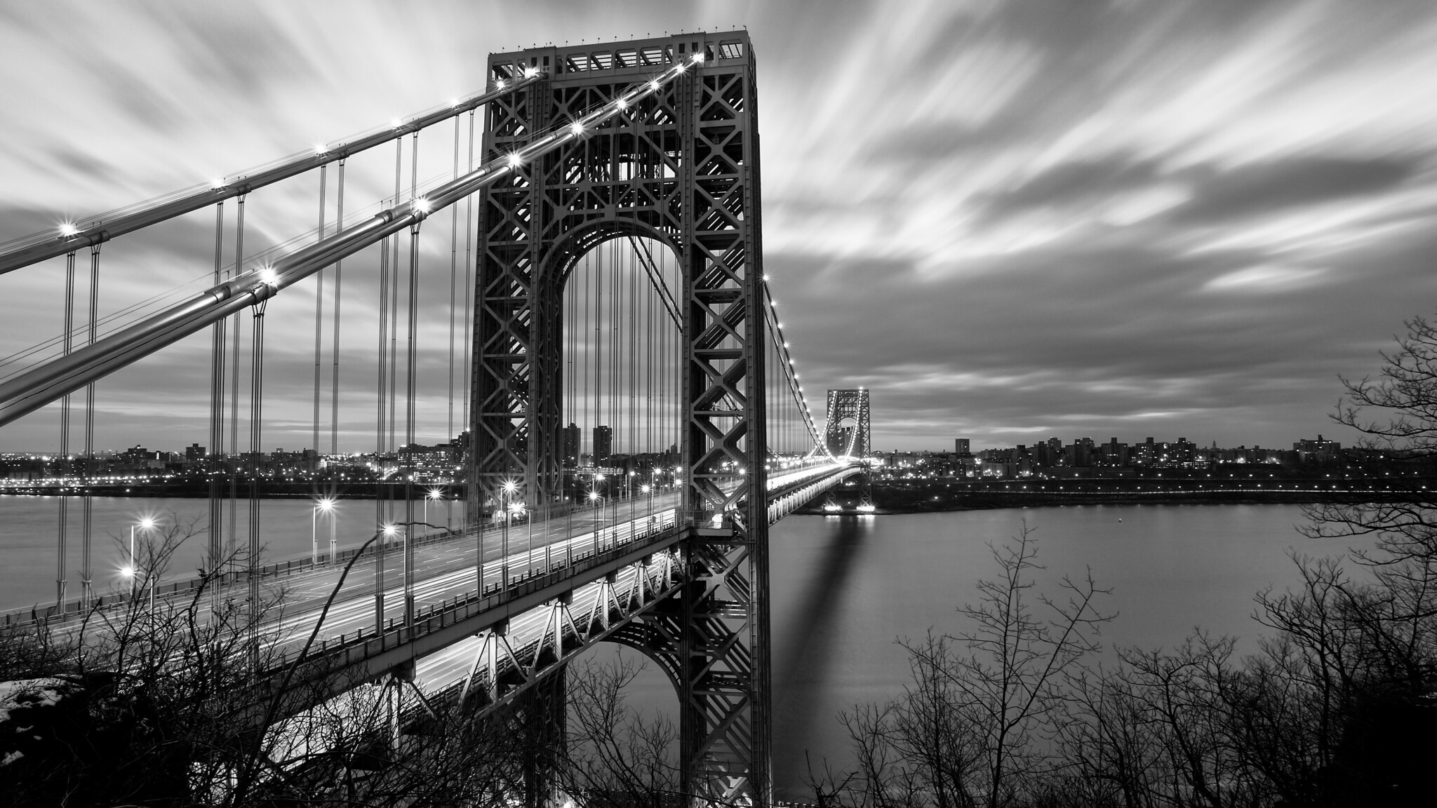 4k Wallpaper Wallpaper By Gstblack: 2048x1152 Bridge Black And White 2048x1152 Resolution HD