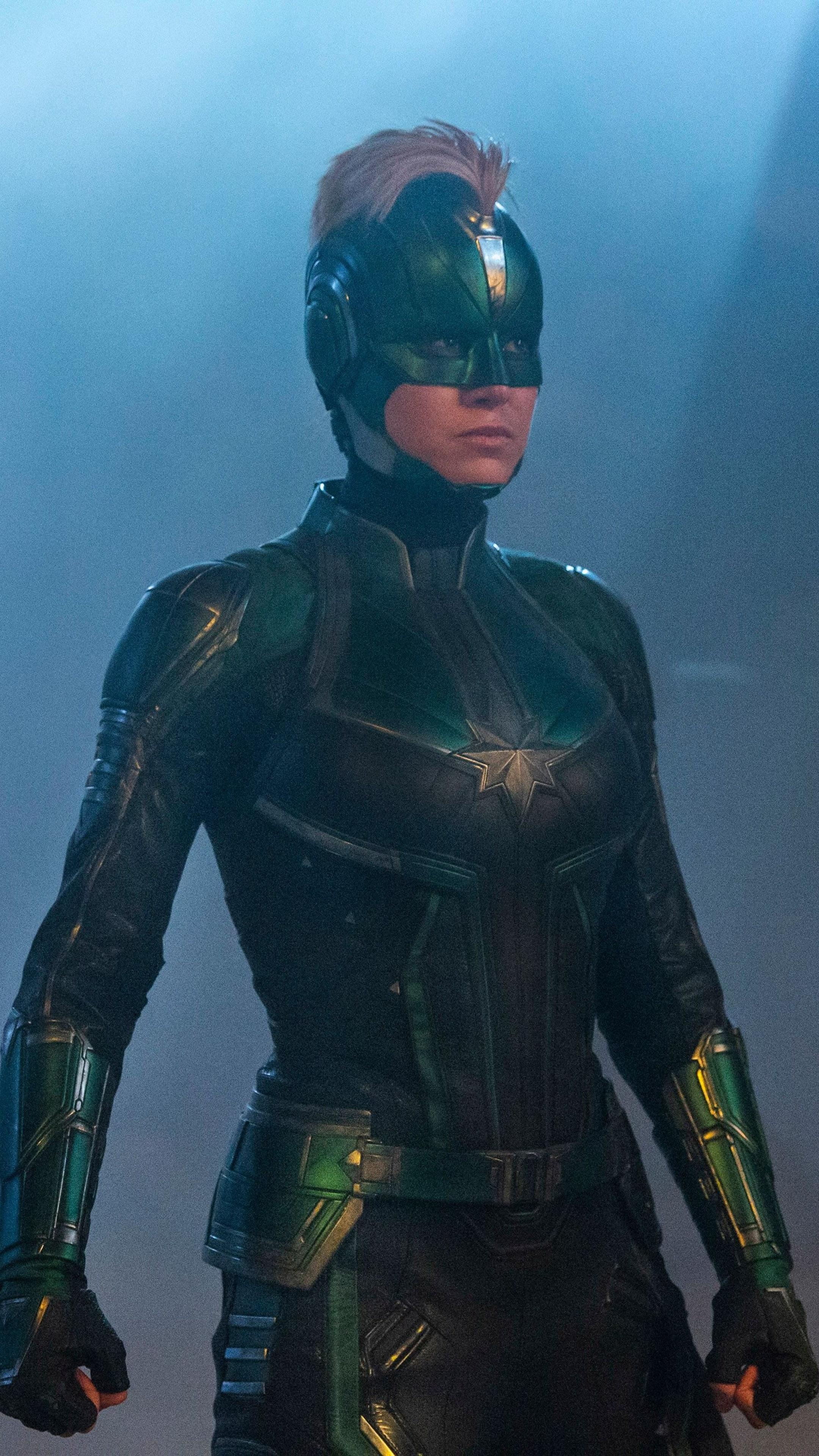 2160x3840 Brie Larson In Captain Marvel Movie 2019 Sony ...