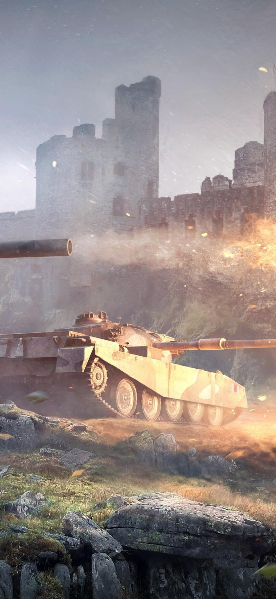 1125x2436 British Tank World Of Tanks Iphone Xs Iphone 10