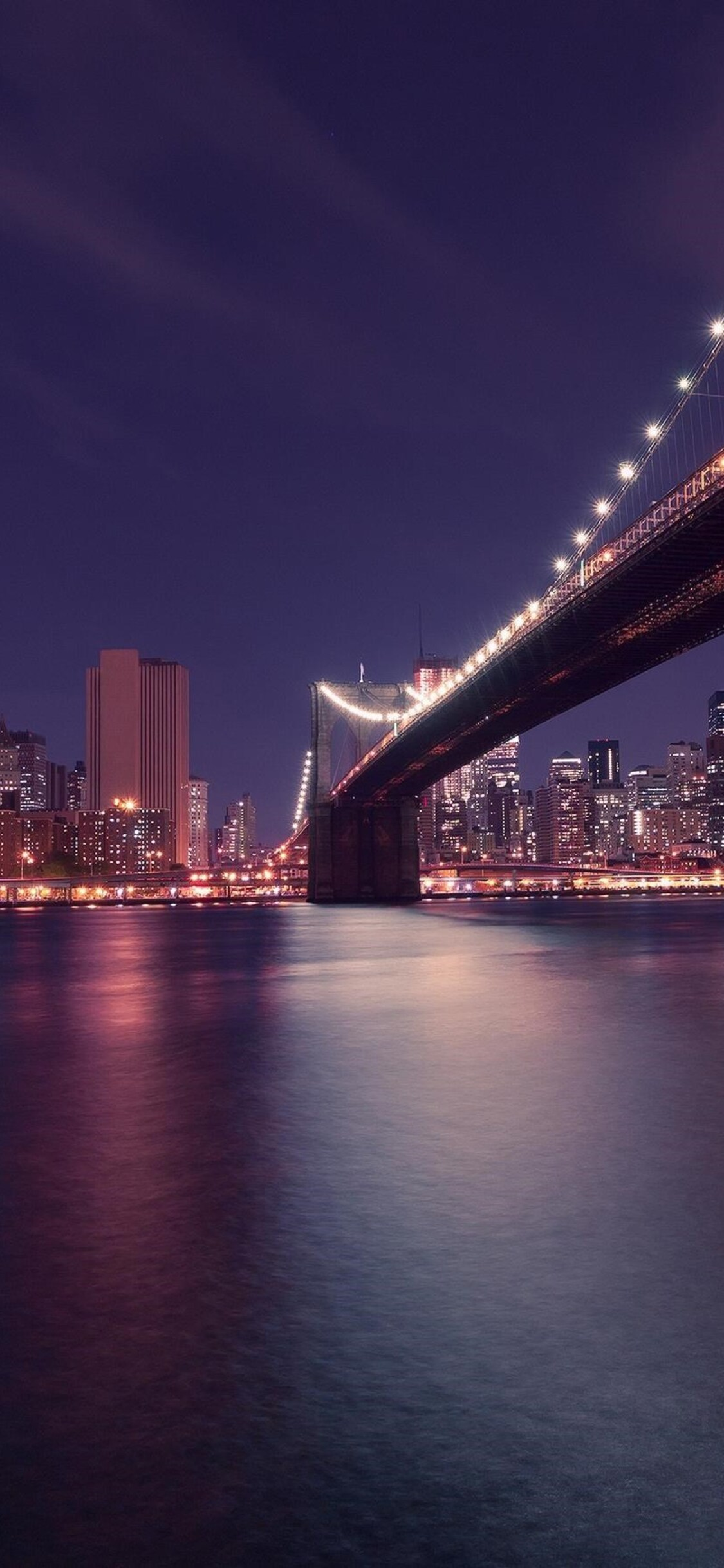 1125x2436 Brooklyn Bridge Manhattan In New York Iphone Xs Iphone 10