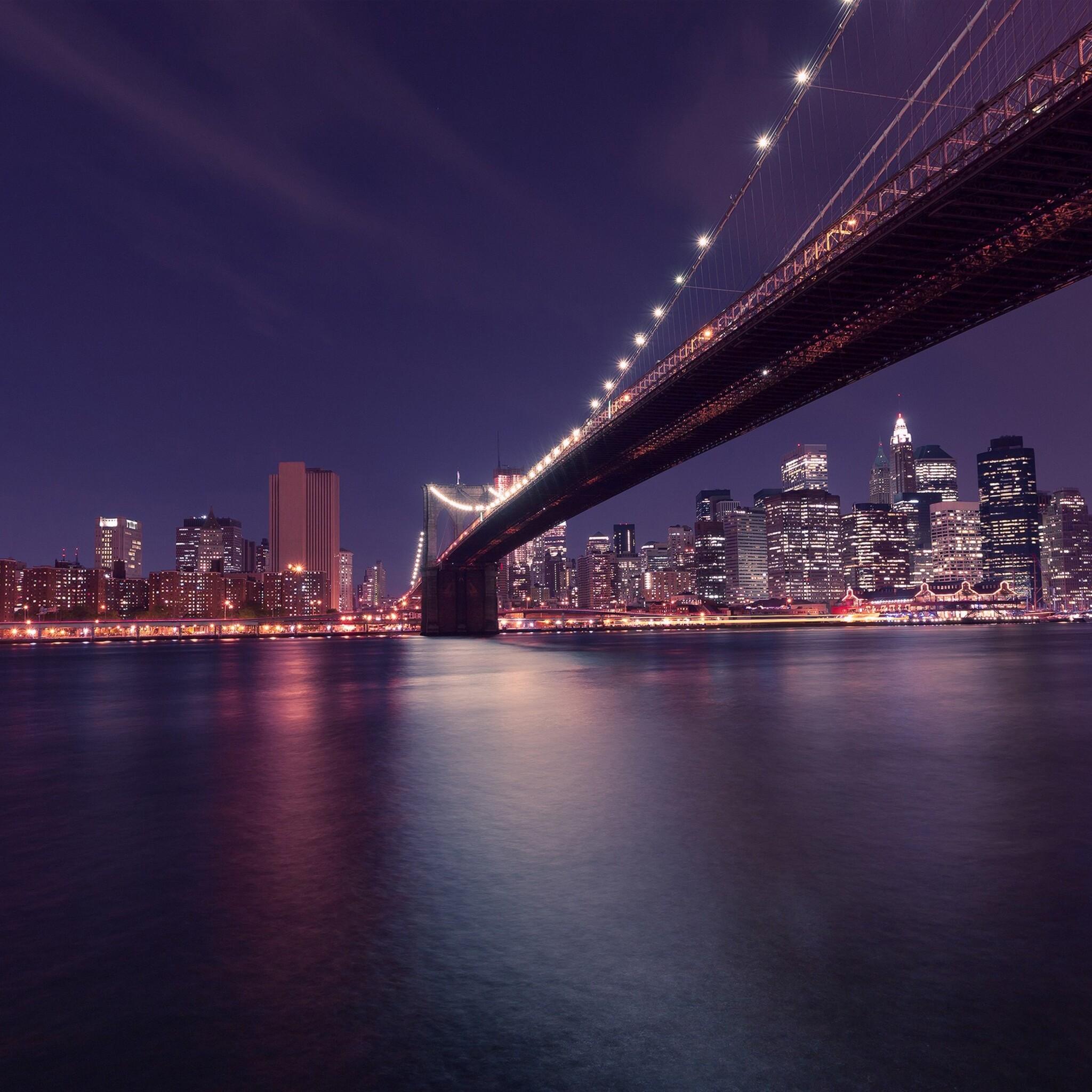 2048x2048 Brooklyn Bridge Manhattan In New York Ipad Air