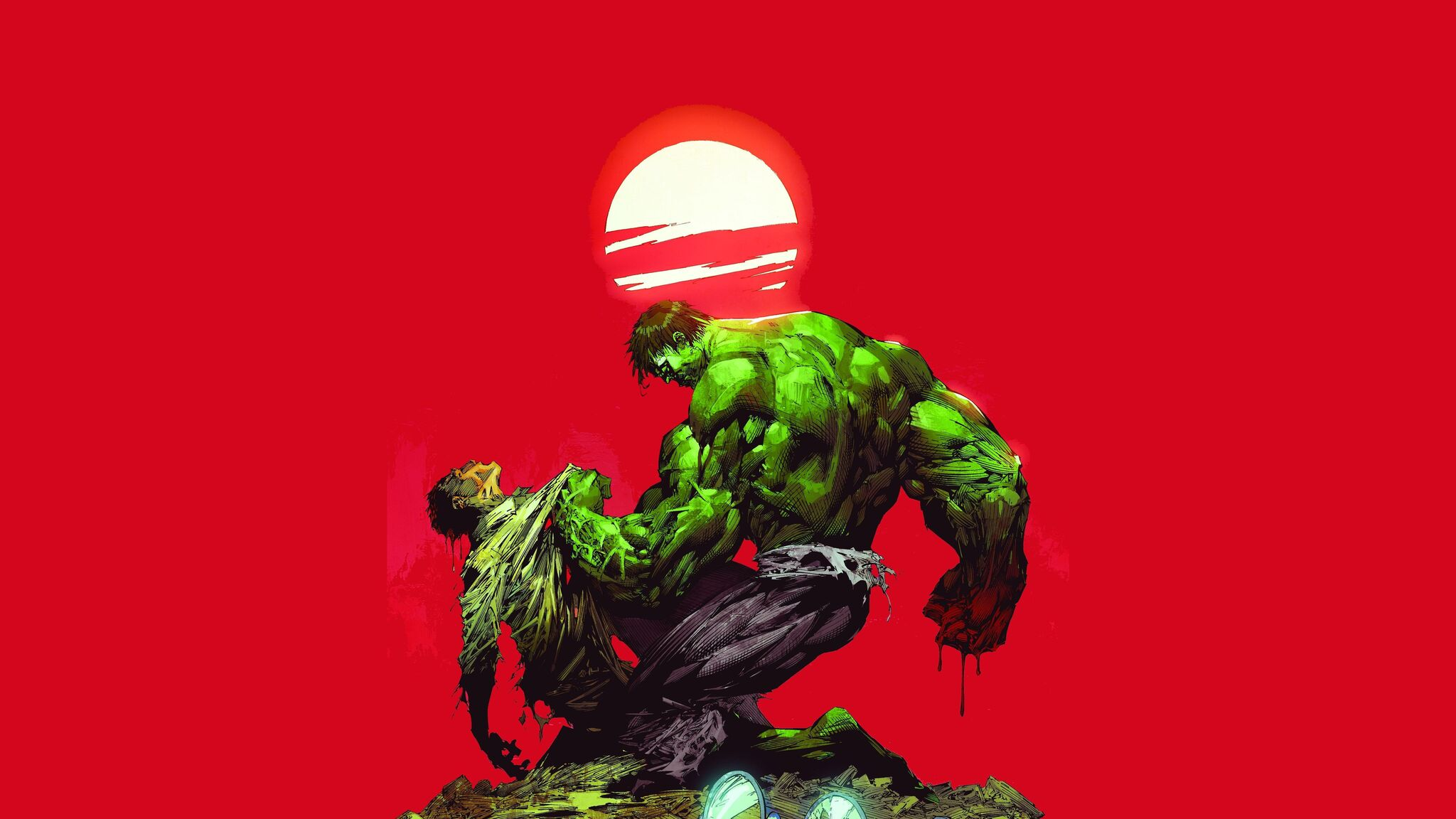 2048x1152 Bruce Banner Vs The Hulk 5k 2048x1152 Resolution