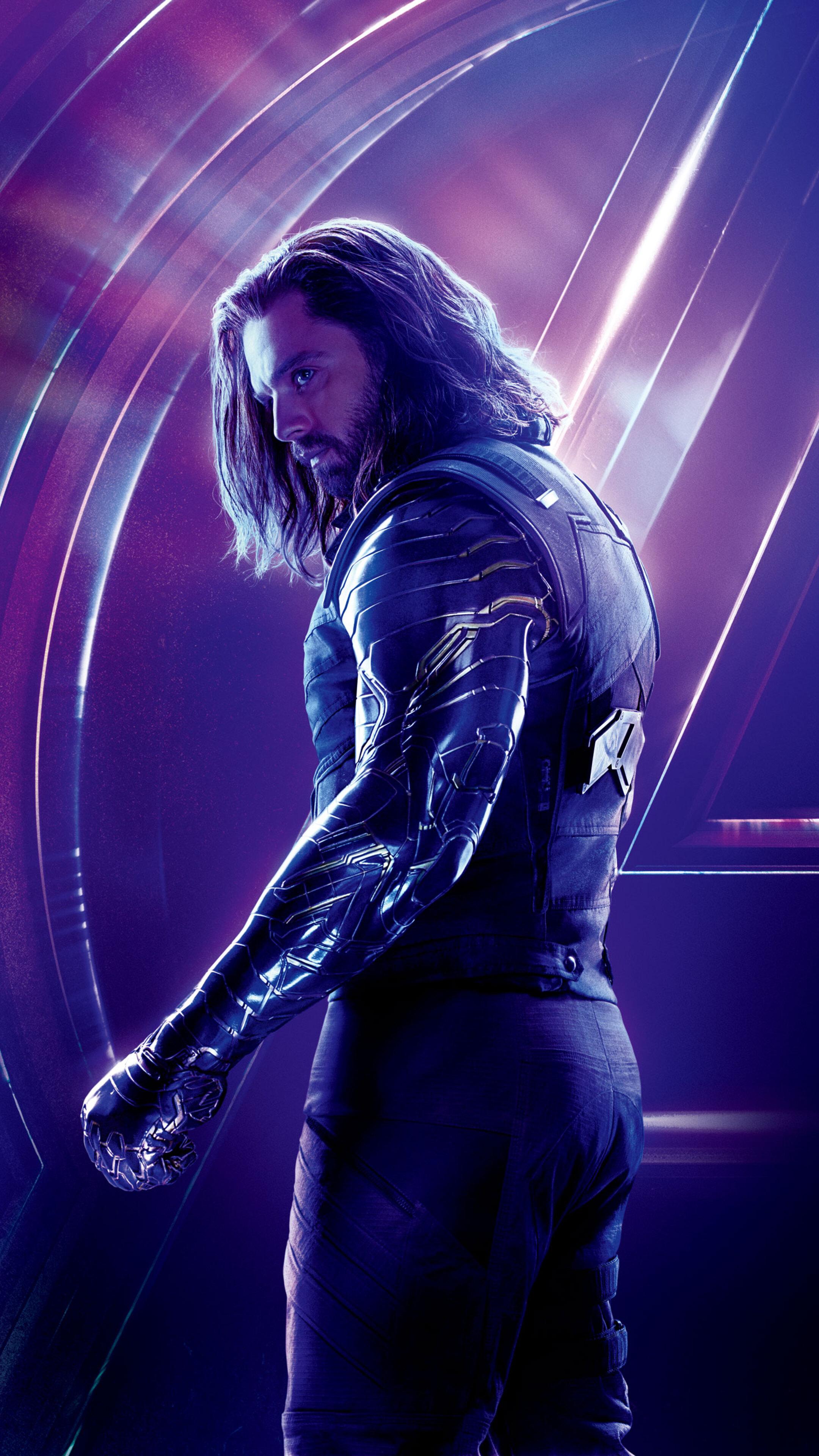 2160x3840 Bucky Barnes In Avengers Infinity War 8k Poster