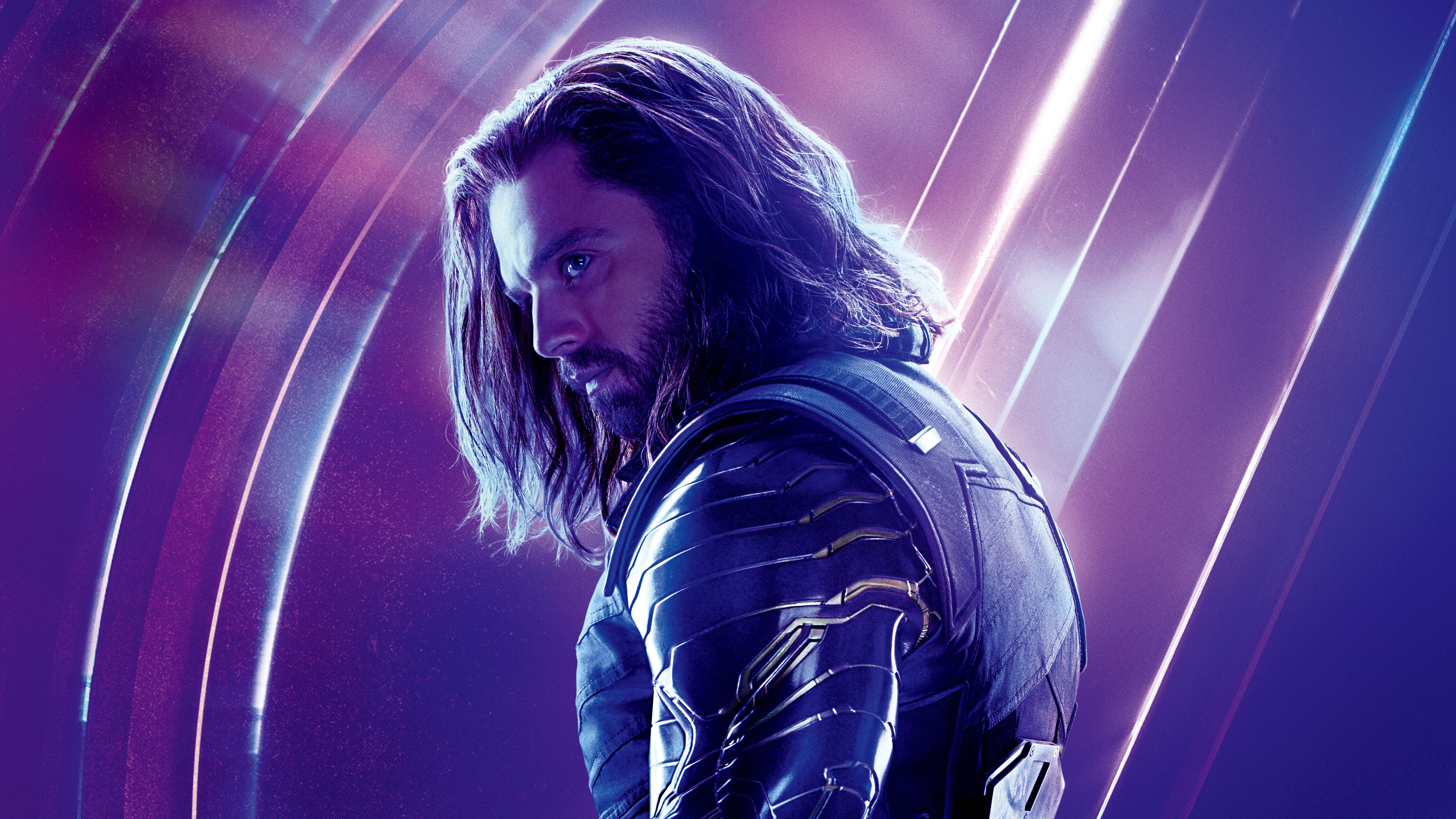 7680x4320 Bucky Barnes In Avengers Infinity War 8k Poster