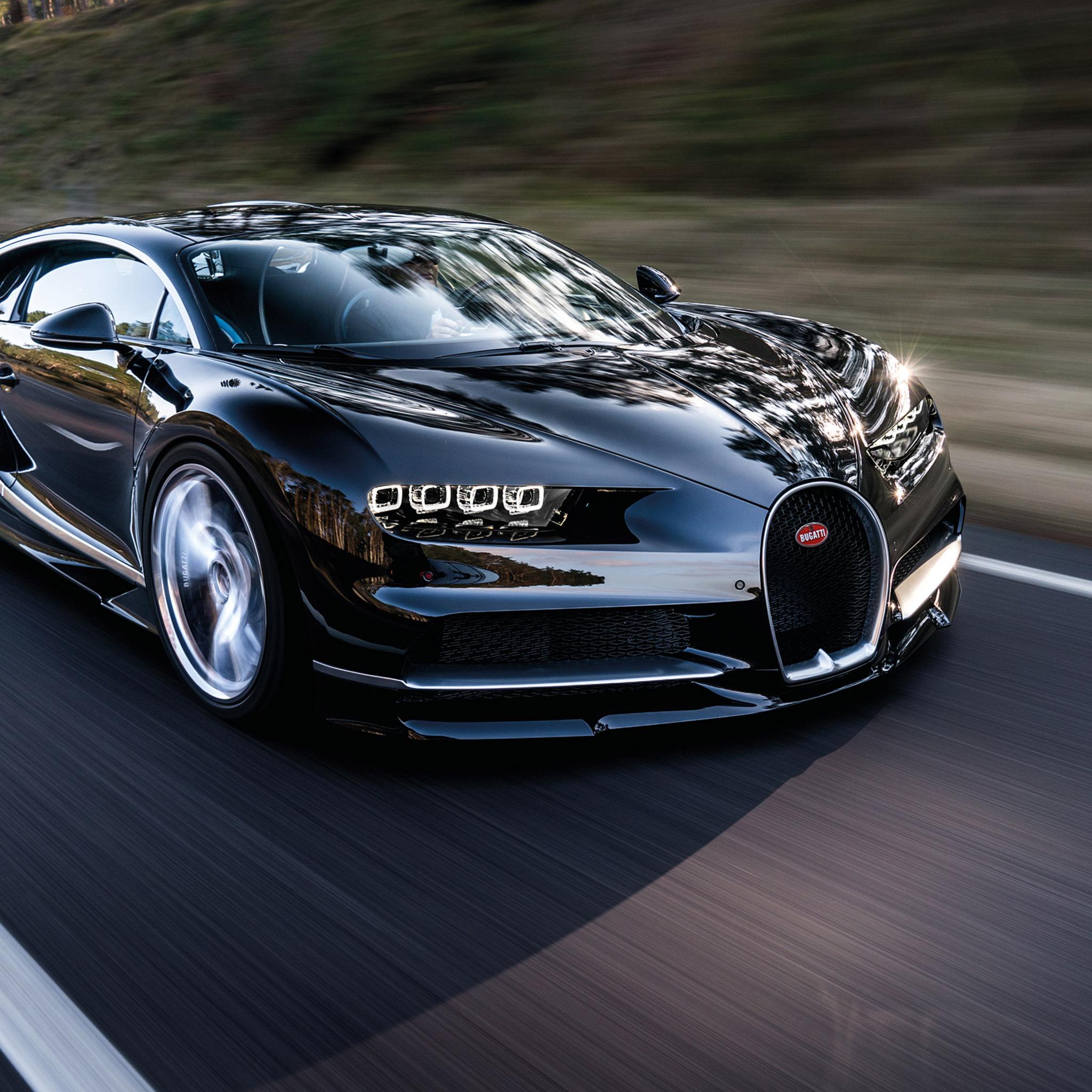 2048x2048 Bugatti Chiron Black Ipad Air HD 4k Wallpapers