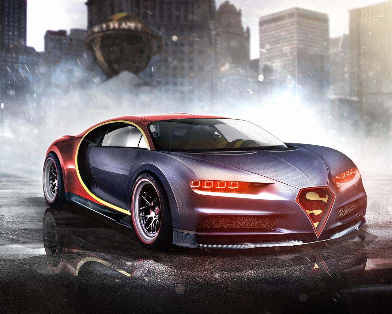 1280x1024 Bugatti Chiron Superman 1280x1024 Resolution Hd 4k
