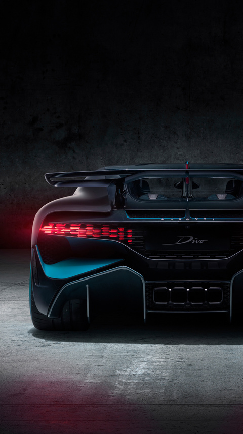 480x854 Bugatti Divo 2018 Rear Android One Hd 4k Wallpapers Images