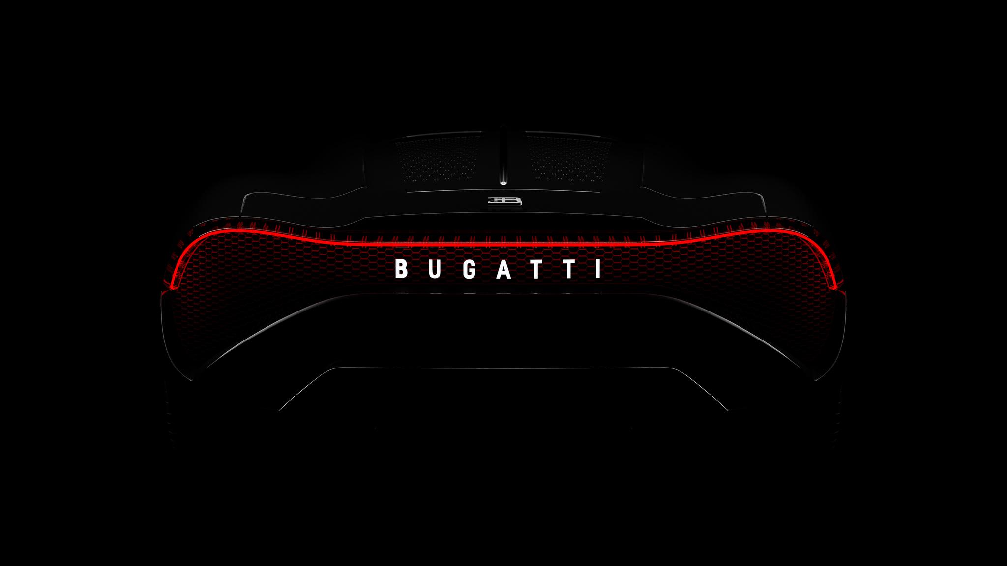 2048x1152 Bugatti La Voiture Noire 2019 Rear Lights