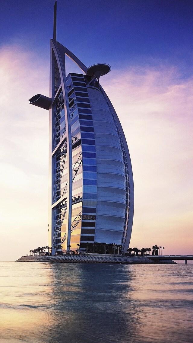 640x1136 Burj Al Arab Dubai Iphone 5 5c 5s Se Ipod Touch Hd
