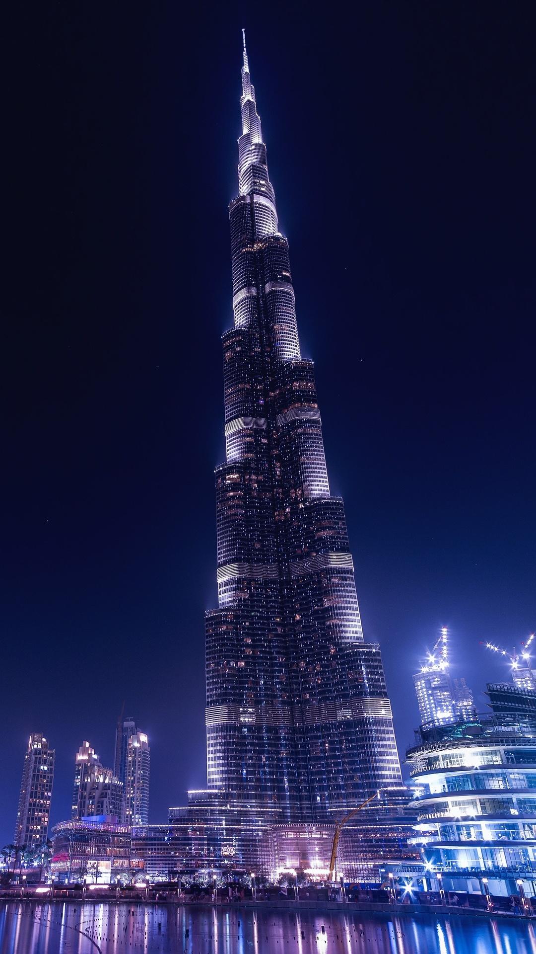 1080x1920 burj khalifa dubai night iphone 7 6s 6 plus pixel xl one plus 3 3t 5 hd 4k - Dubai burj khalifa hd photos ...