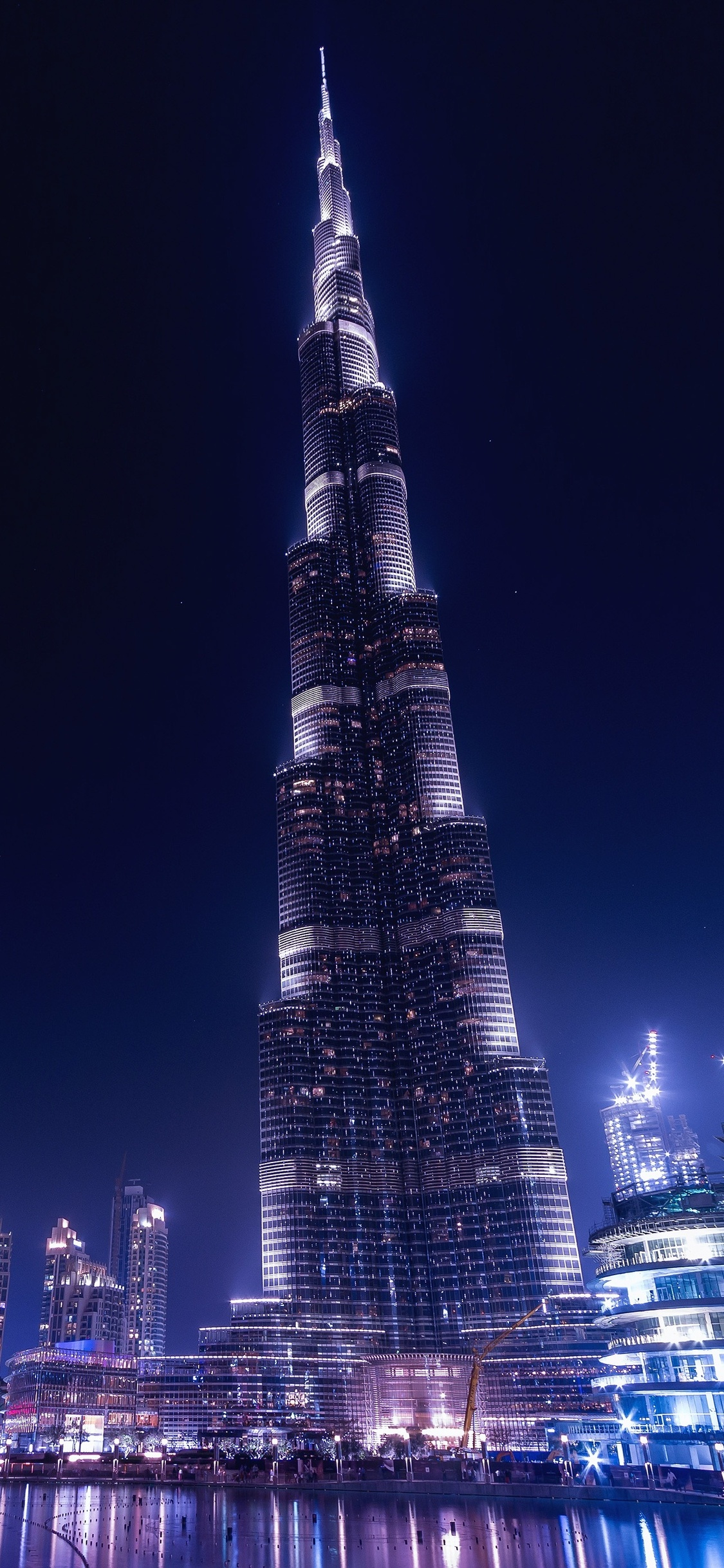 1125x2436 burj khalifa dubai night iphone x,iphone 10 hd 4k