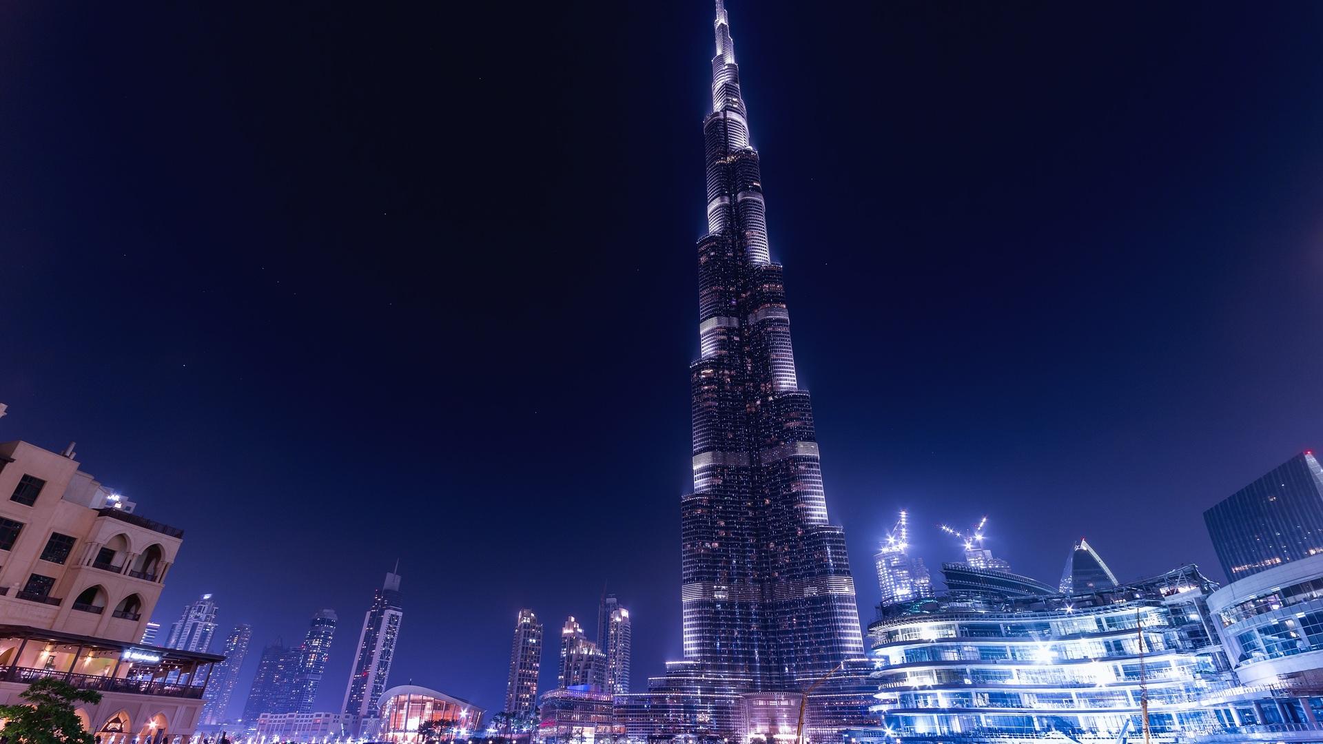 1920x1080 Burj Khalifa Dubai Night Laptop Full Hd 1080p Hd 4k