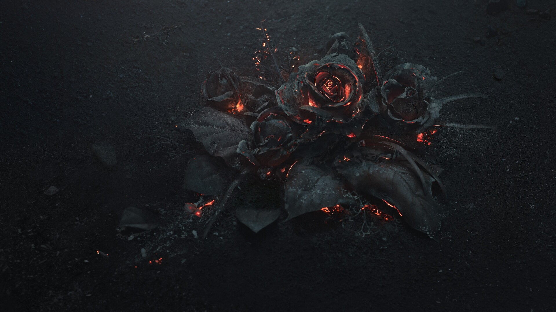 1920x1080 Burning Roses 5k Laptop Full Hd 1080p Hd 4k Wallpapers Images Backgrounds Photos And Pictures
