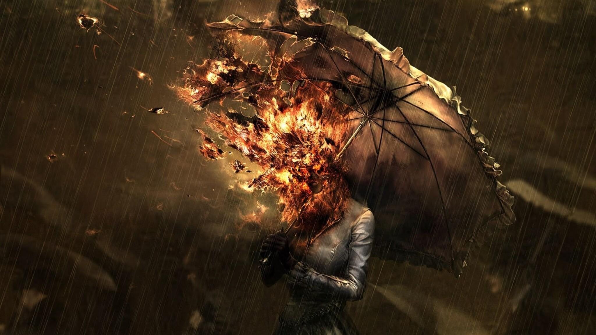 Красивые картинки - Страница 3 Burning-umbrella-girl-wide-2048x1152