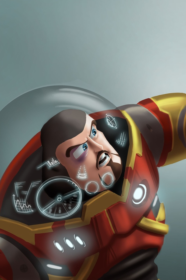 640x960 Buzz Lightyear As Iron Man And Sheriff Woody As Captain