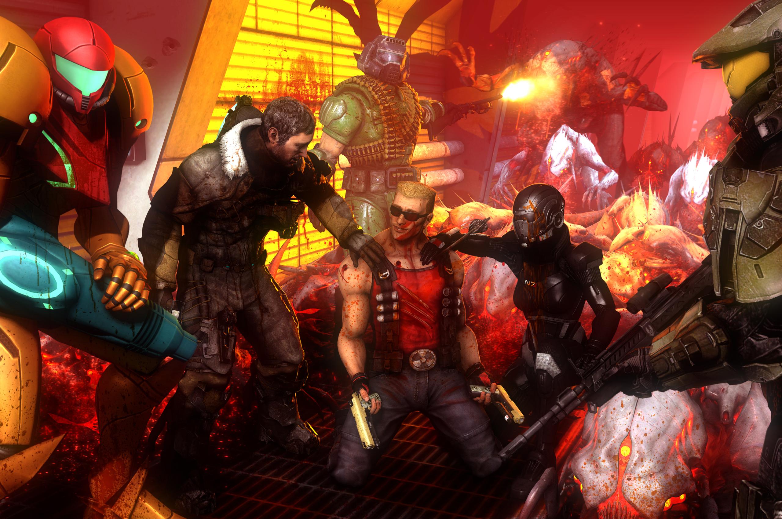 2560x1700 Call Of Duty Deadspace Aliens Crossover Fanart 4k