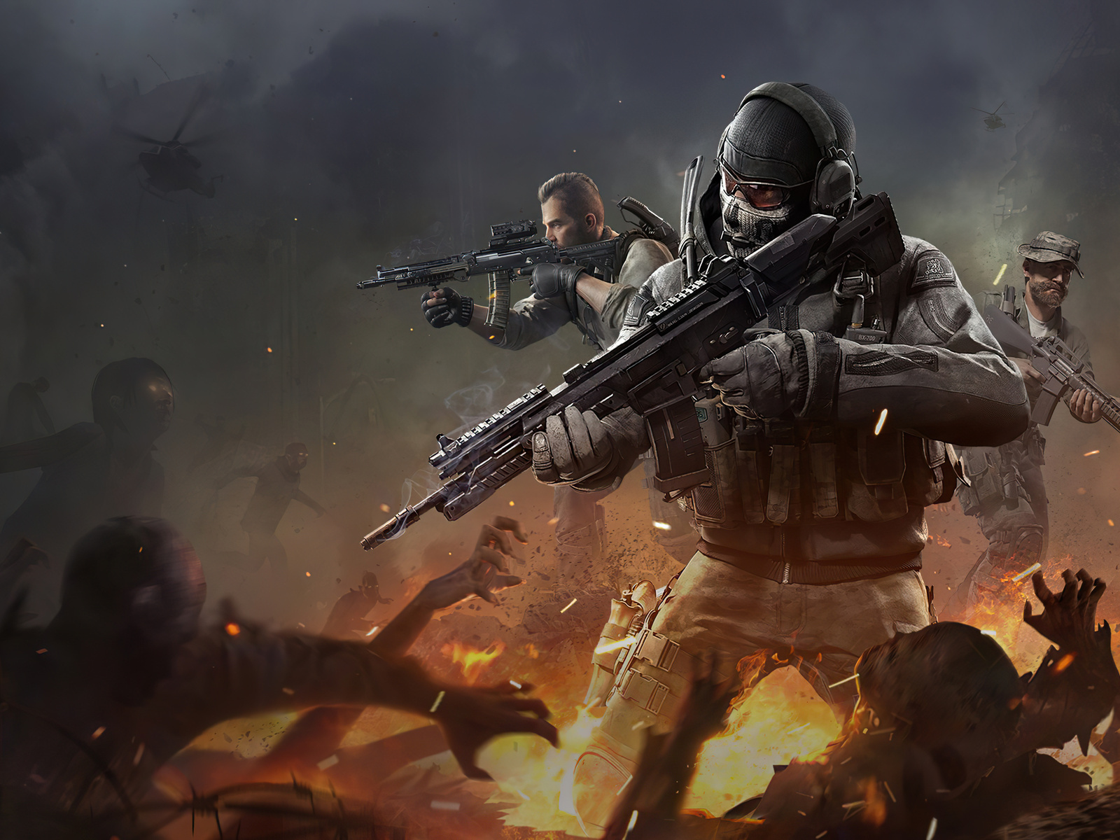 1600x1200 Call Of Duty Mobile Ghost Character 4k 1600x1200 ...