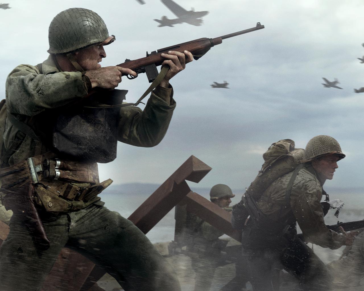 Call Of Duty Ww2 Wallpaper 4k: 1280x1024 Call Of Duty WW2 4k 1280x1024 Resolution HD 4k