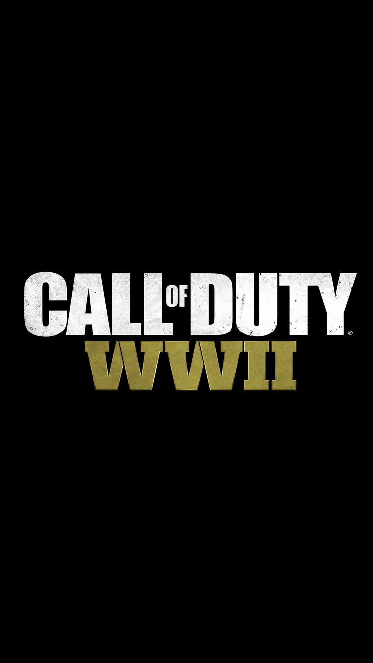 750x1334 Call Of Duty Ww2 Logo 8k Iphone 6 Iphone 6s Iphone 7 Hd