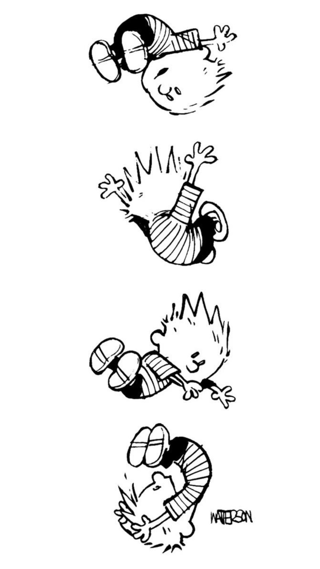 1080x1920 Calvin And Hobbes Iphone 7 6s 6 Plus Pixel Xl