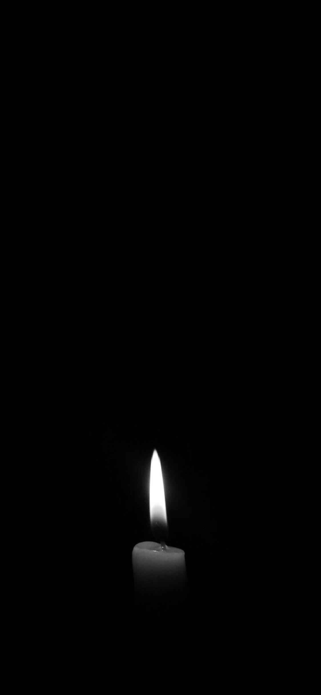 1125x2436 Candle Dark Monochrome Iphone Xs Iphone 10 Iphone X Hd 4k