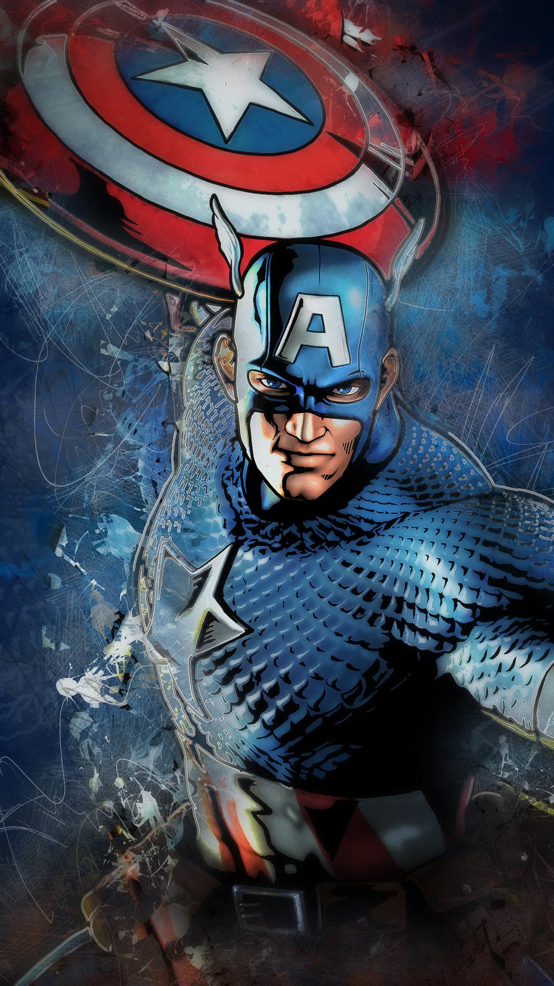 1080x1920 Captain America Artwork 4k Iphone 7,6s,6 Plus ...