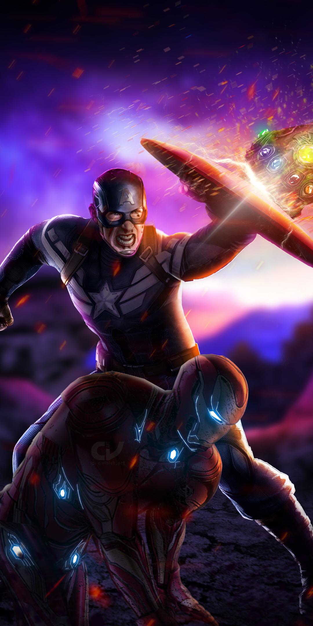 1080x2160 Captain America Avengers Endgame One Plus 5T ...