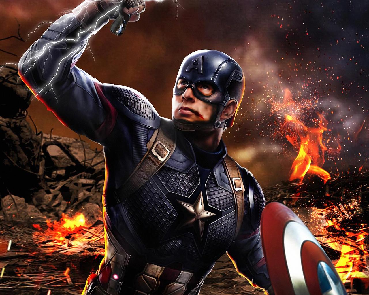 1280x1024 Captain America Avengers ...