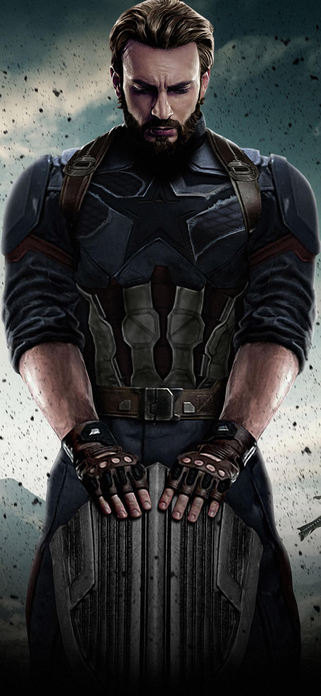 1125x2436 Captain America Avengers Infinity War 2018 Iphone Xs