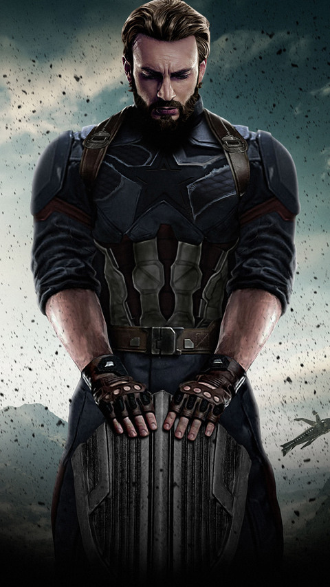 captain america wallpaper android  480x854 Captain America Avengers Infinity War 2018 Android One HD 4k ...