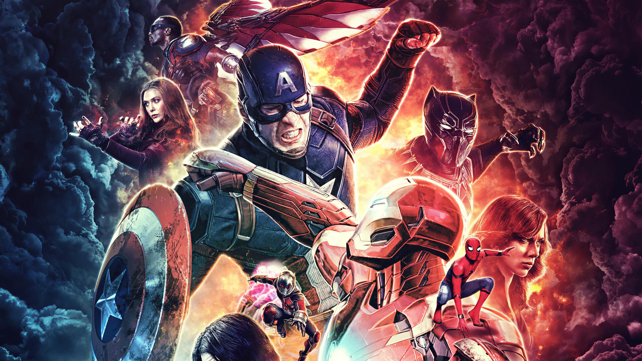 2560x1440 Captain America Civil War 4k Poster 1440p Resolution Hd