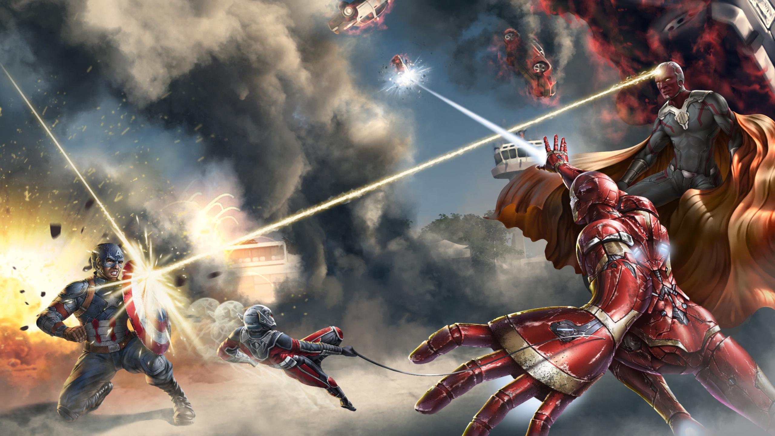 2560x1440 Captain America Civil War Art 1440p Resolution Hd 4k