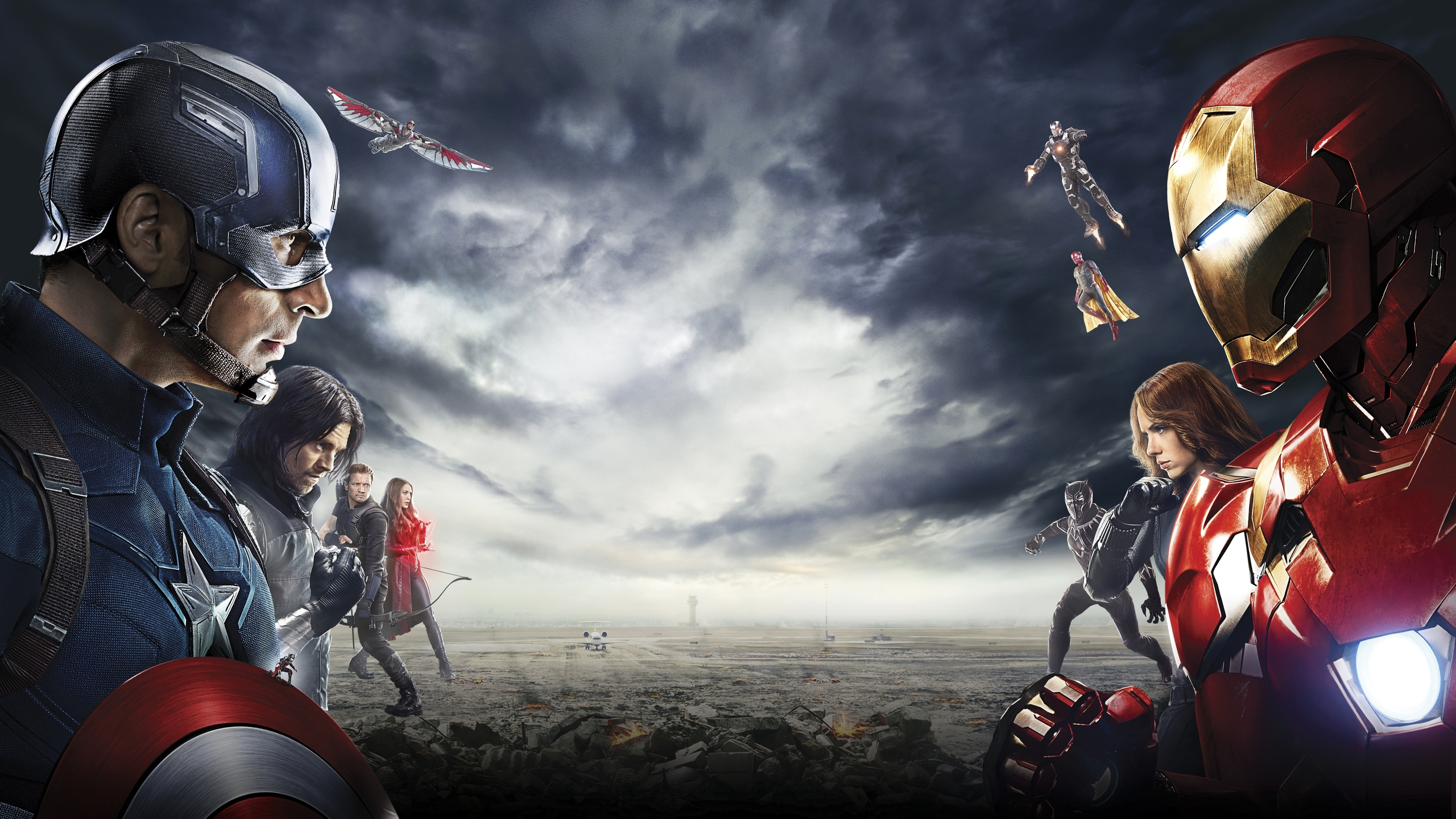 2560x1440 Captain America Civil War Heroes 5k 1440p Resolution Hd
