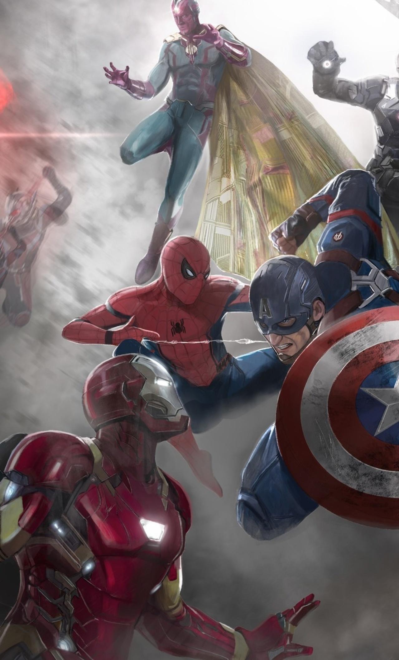 Captain America Civil War Movie Artwork R1