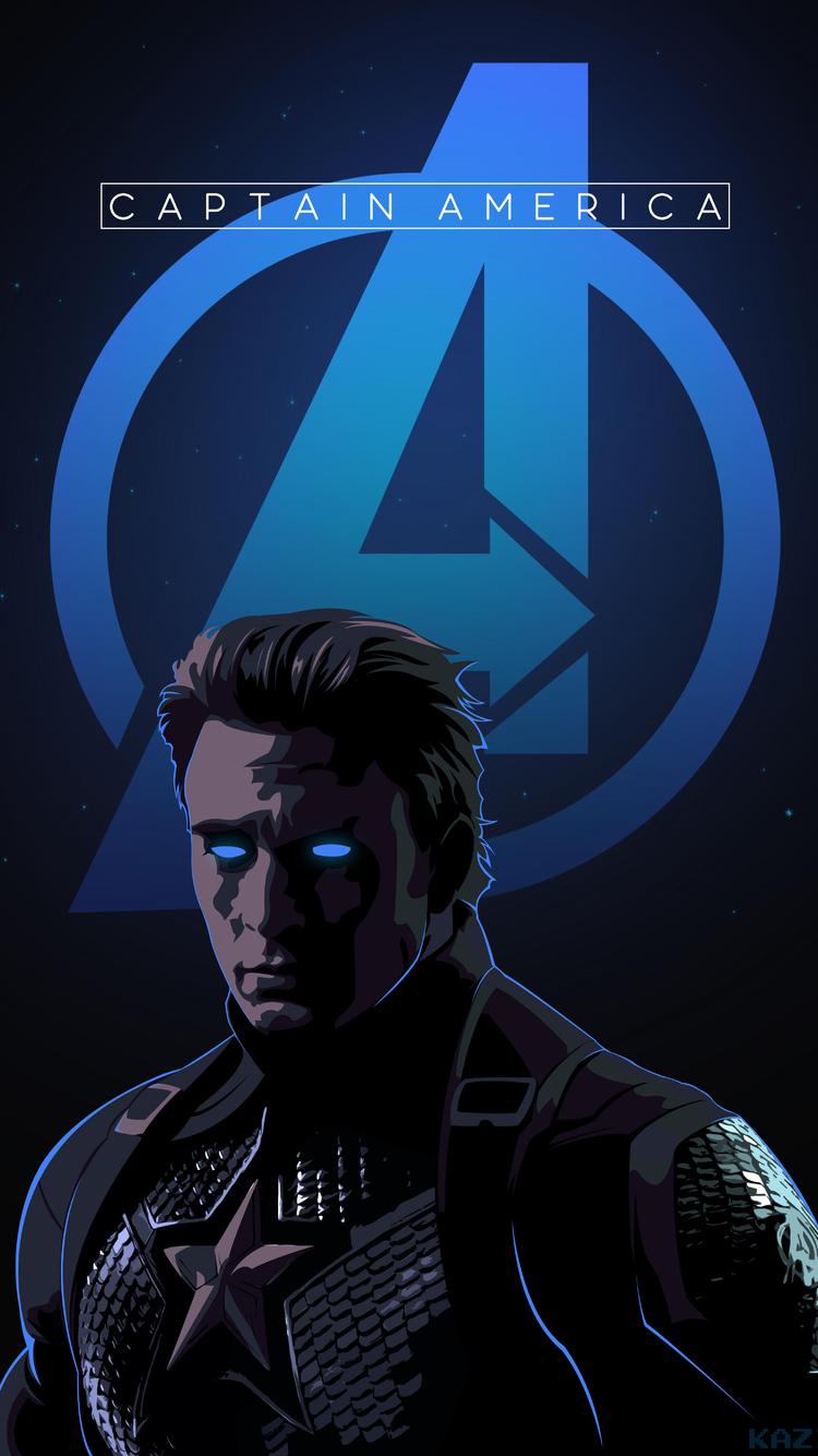 750x1334 Captain America Endgame Art Iphone 6 Iphone 6s Iphone 7