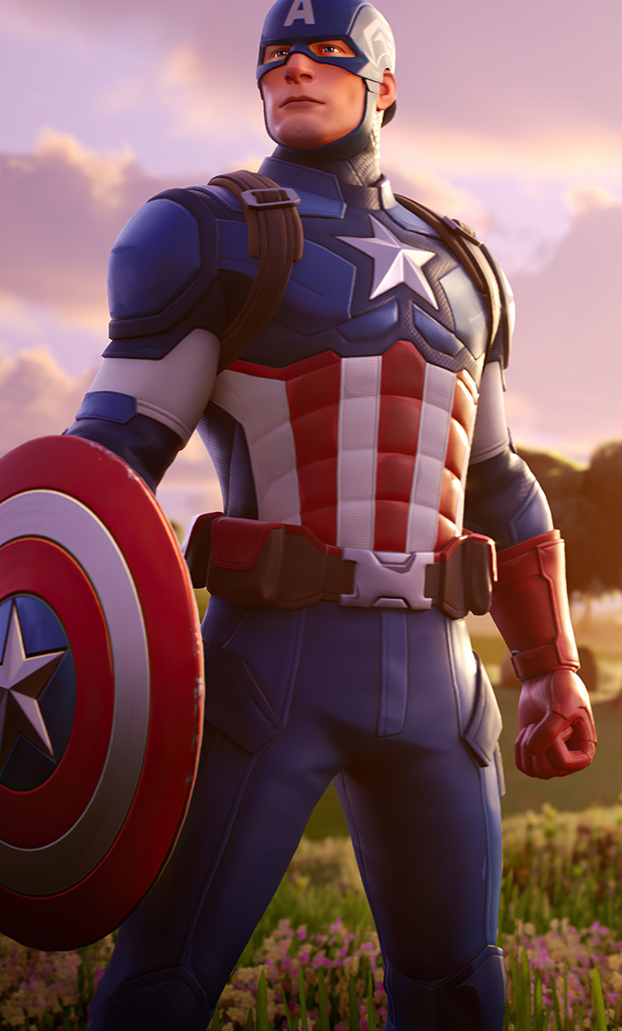 1280x2120 Captain America Fortnite 4k Iphone 6 Hd 4k Wallpapers Images Backgrounds Photos And Pictures