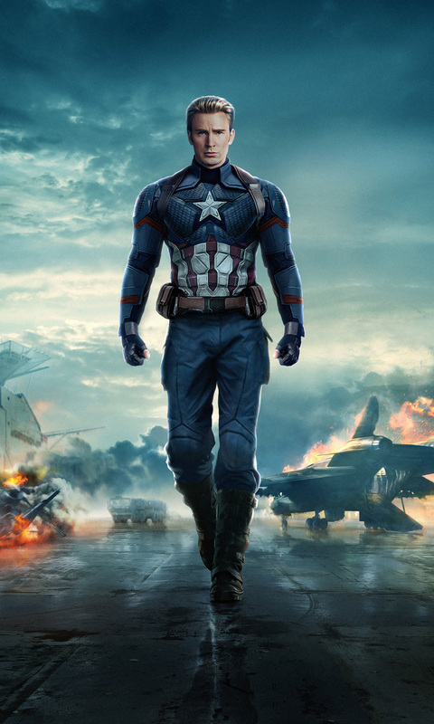 480x800 Captain America In Avengers 4 Galaxy Note,HTC ...