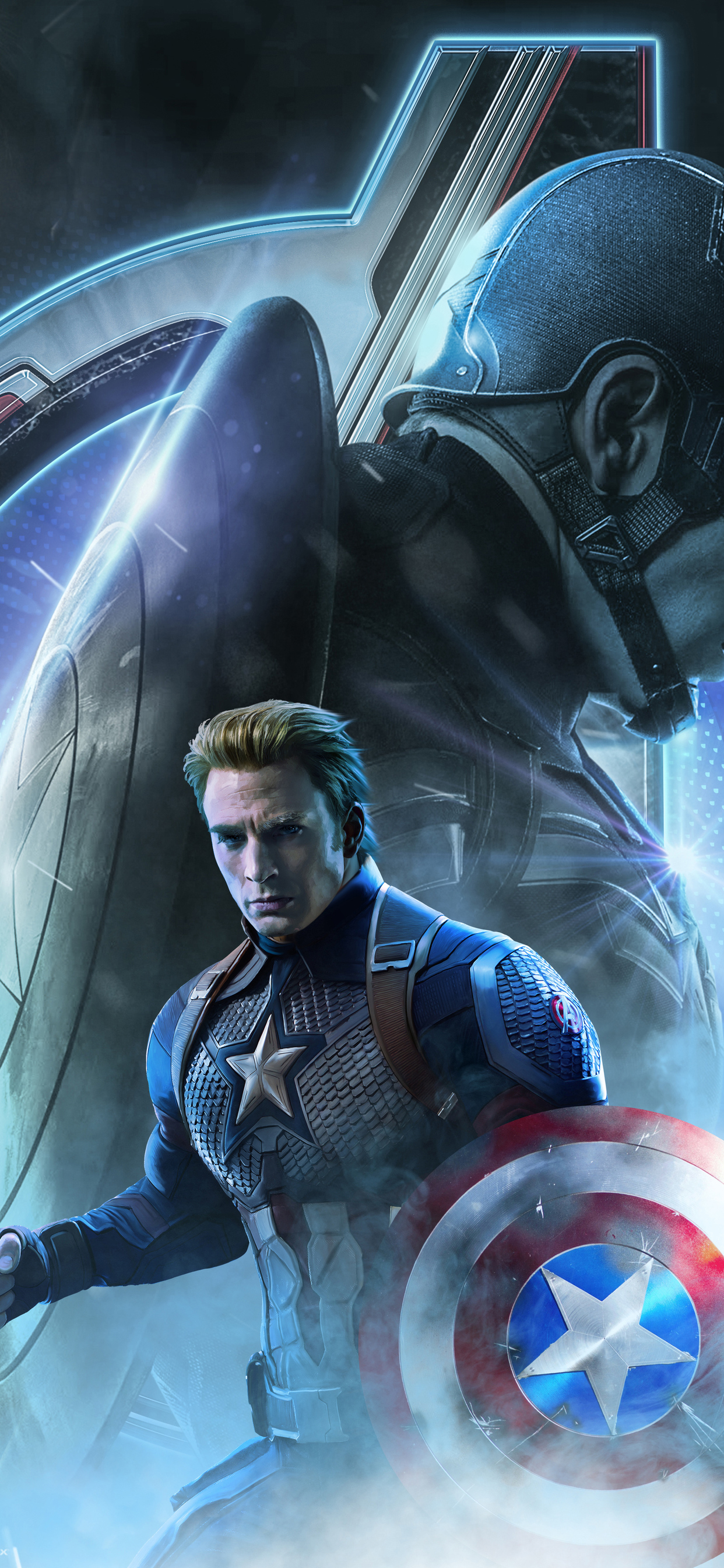 1242x2688 Captain America In Avengers Endgame 2019 Iphone Xs Max Hd