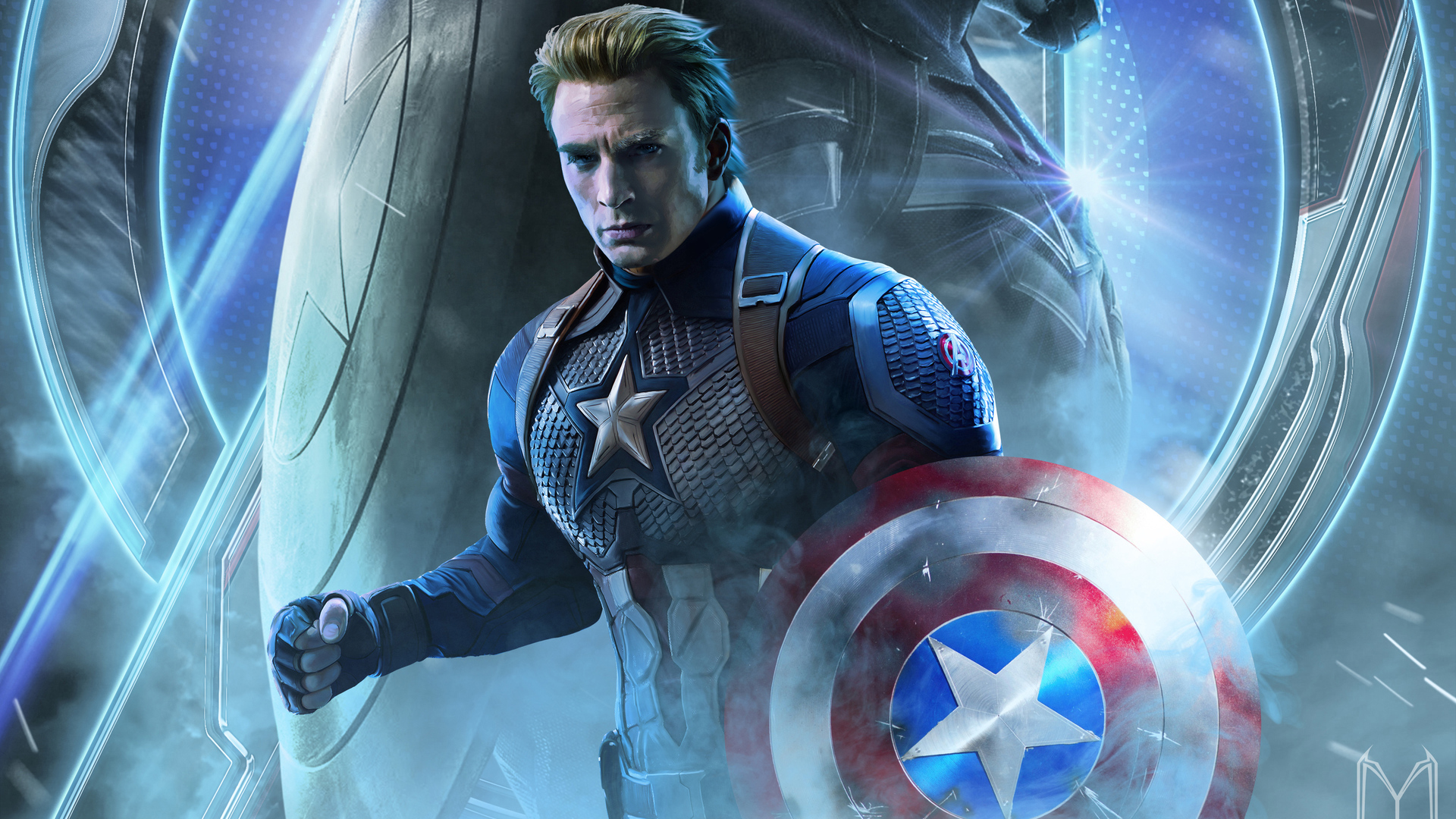 1920x1080 Captain America In Avengers Endgame 2019 Laptop